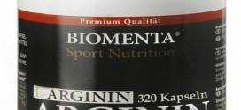 L-Arginin hochdosiert – 3600 mg – 320 Kapseln, 2-3 Monatskur von Biomenta